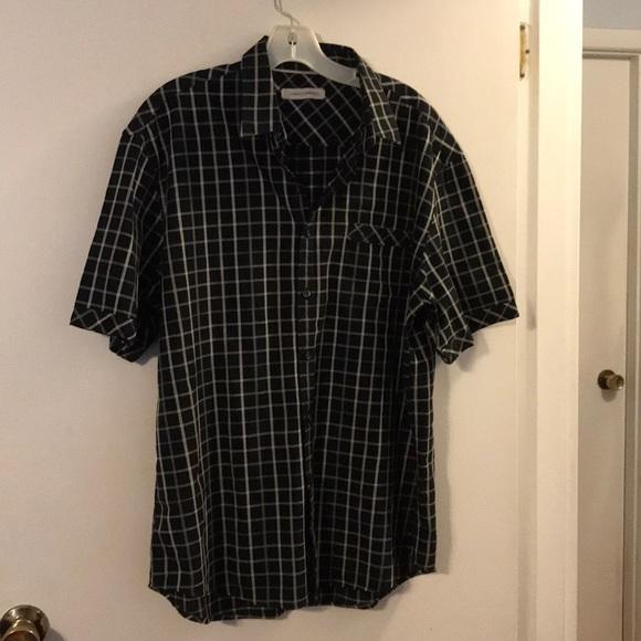 295e4fe4983 James Campbell Other - James Campbell black tan short sleeve men s shirt